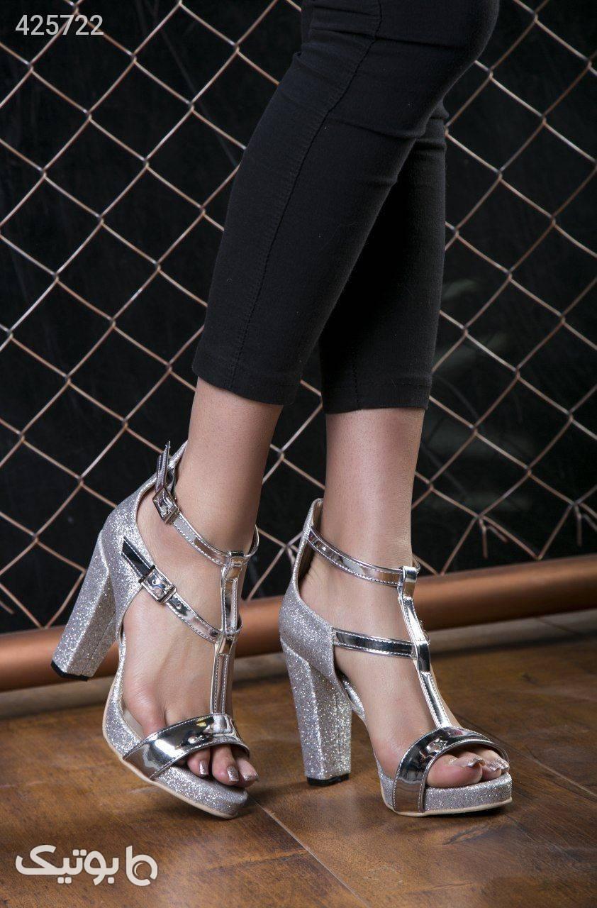 کفش جدید کد555 پاشنه ۱۰ سانت جنس لمه  مشکی كفش زنانه