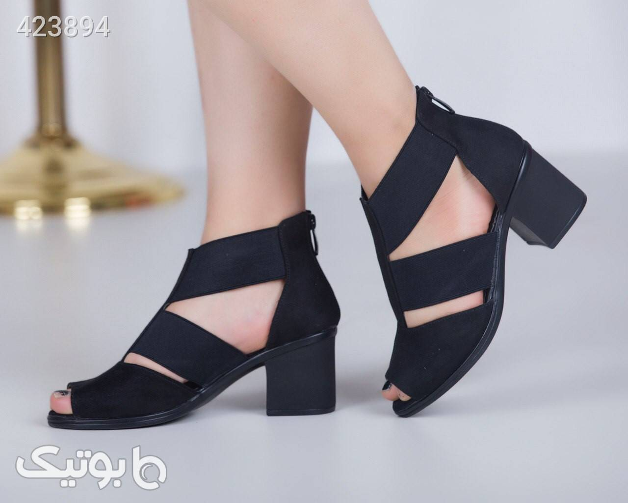 کفش مجلسی پاشنه۷سانت شیک ولاکچری مشکی كفش زنانه