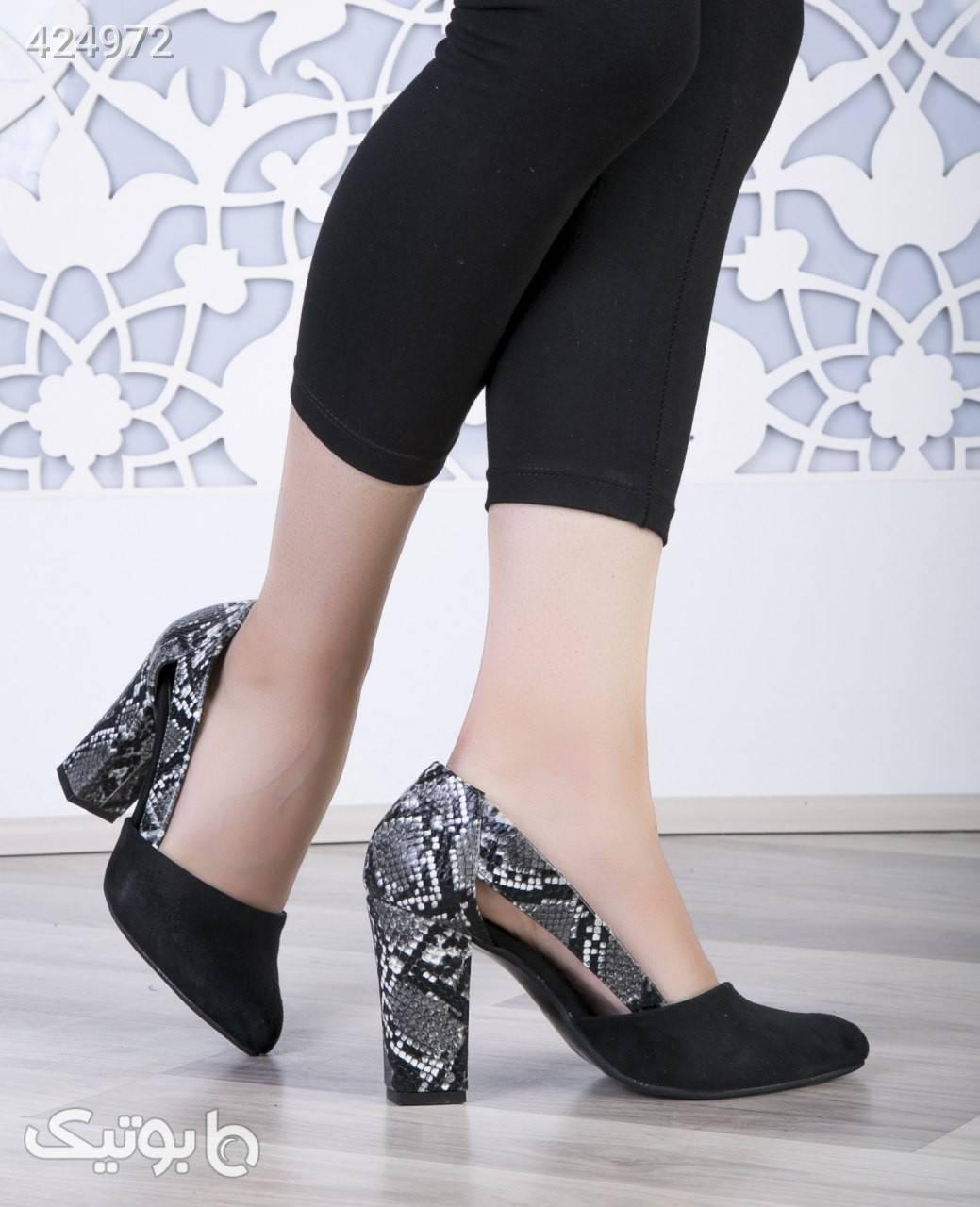 کفش مجلسی پاشنه دار کد۱۳۲ مشکی كفش زنانه