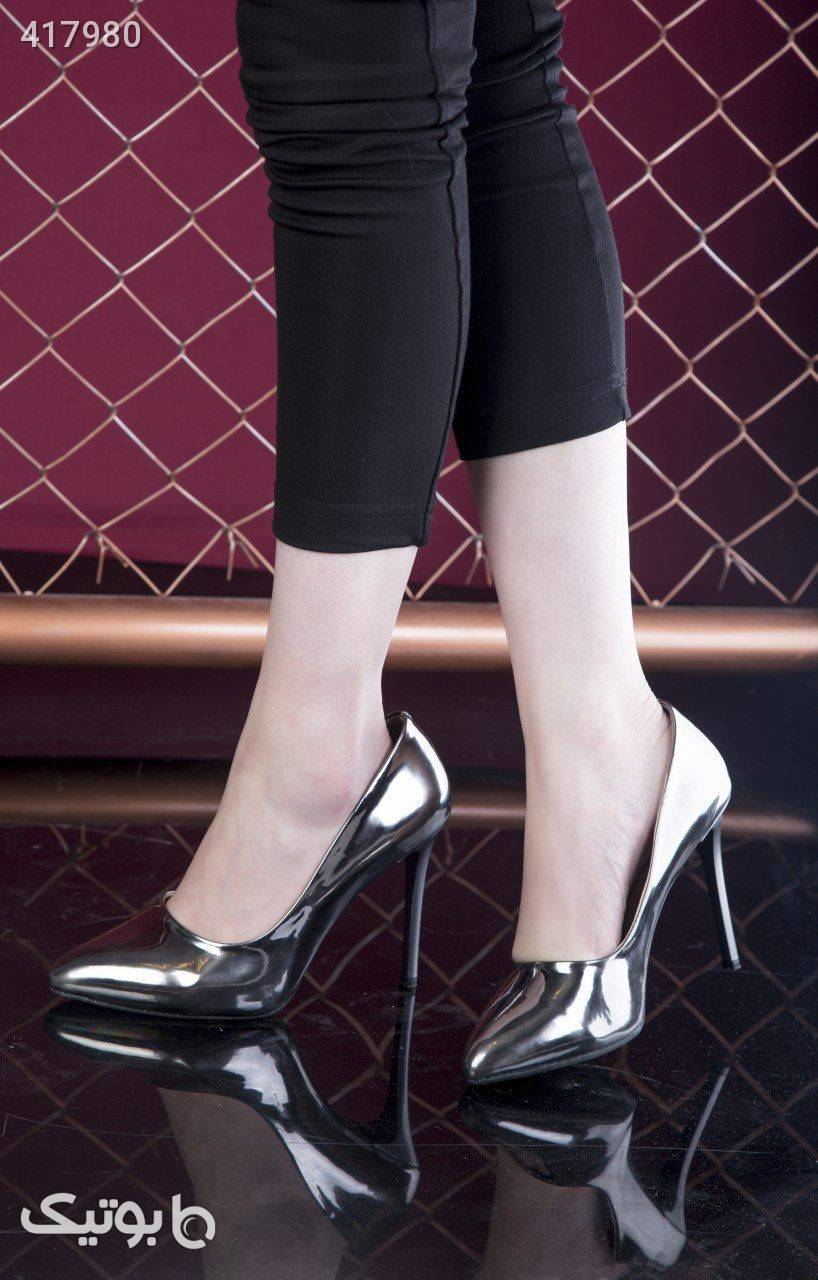 کفش پاشنه۹سانت فوق العاده شیک وزیبا زرد كفش زنانه