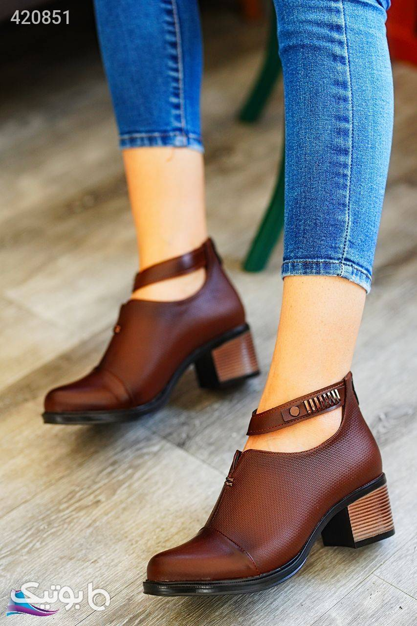 کفش کد560 شیک پاشنه 5 سانت مشکی كفش زنانه