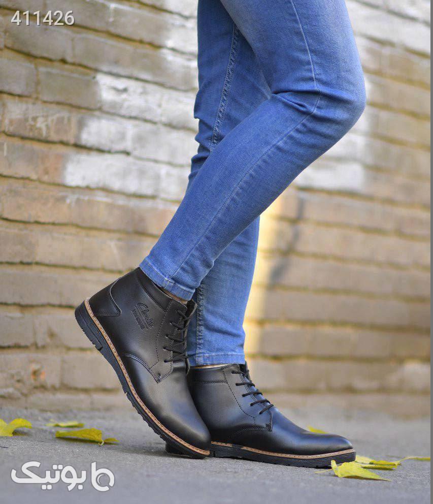 كفش ساقدار مردانه مدل KOTEN مشکی كفش مردانه