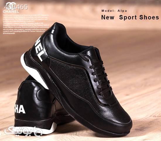 کفش مردانه Chanel مدل Alpa مشکی كفش مردانه