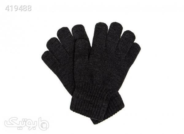 دستکش بافت مردانه رنگ ذغالی مشکی کلاه بافت و شال گردن و دستکش