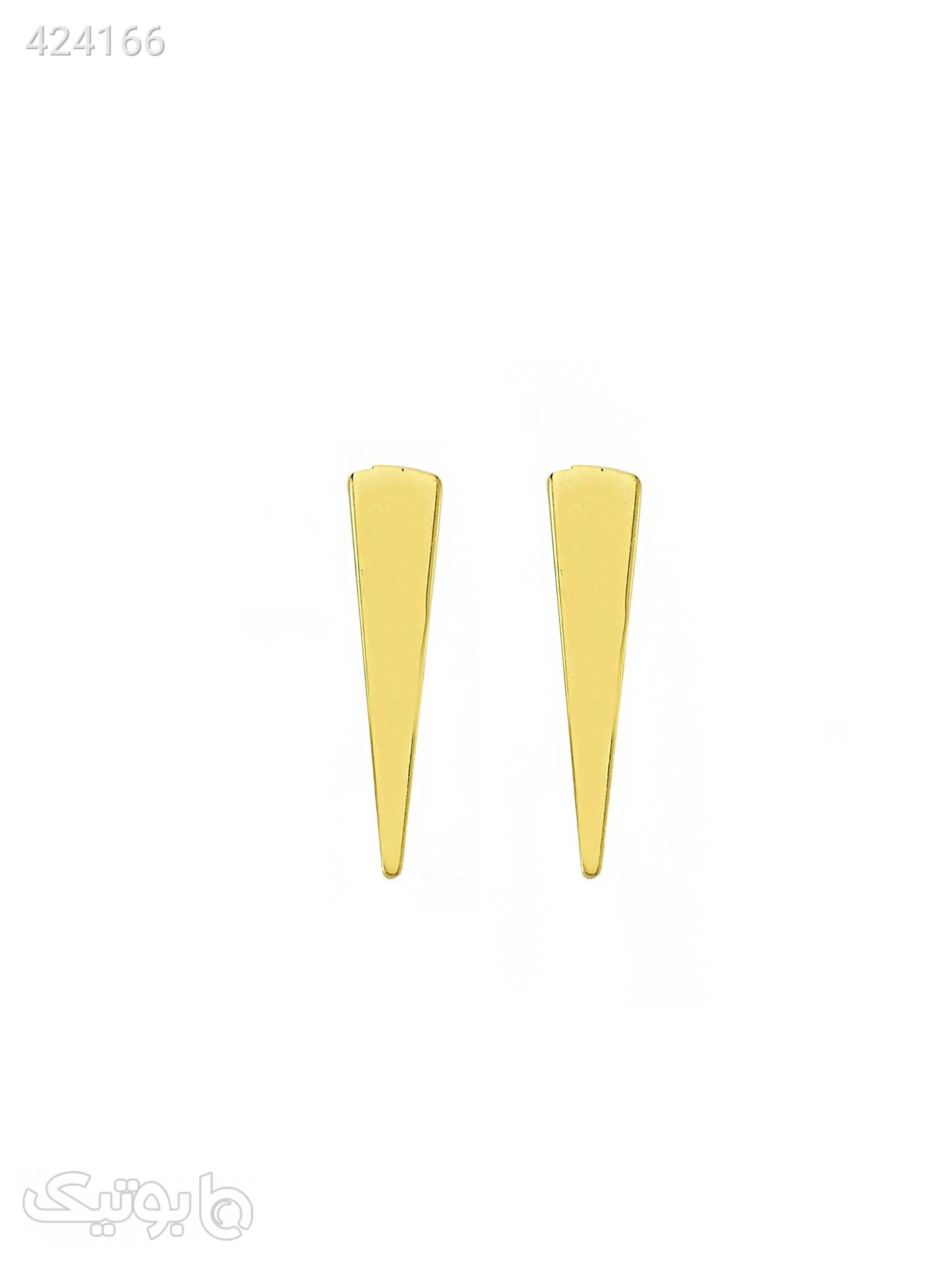 گوشواره طلا 18 عیار مدل GE121 طلایی گوشواره