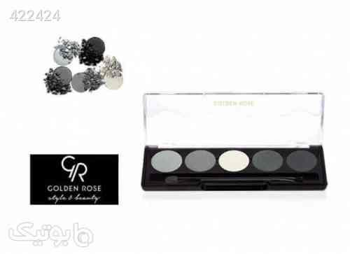 پالت سایه چشم حرفه ای 5 رنگ گلدن رز کد 104 Golden Rose Professional Palette Eyeshadow طوسی 99 2020