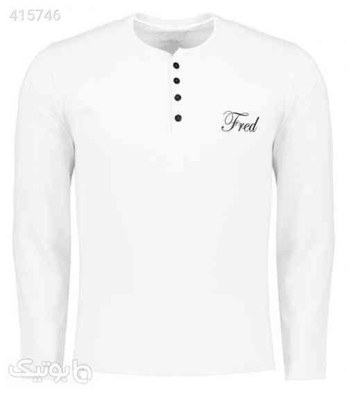 تی شرت مردانه فرد مدل t.f.009 سفید 98 2020