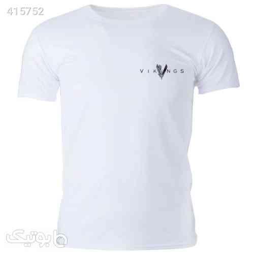 تی شرت مردانه گالری واو طرح Vikings کدCT10217z سفید 98 2020
