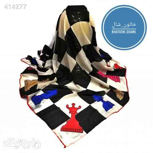 روسری نخی شطرنج آبی 98 2020