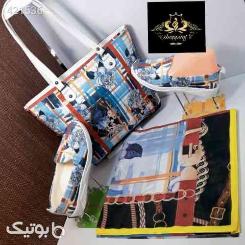 روسری پر فروش جنس نخی لاکچری و زیبا آبی 99 2020