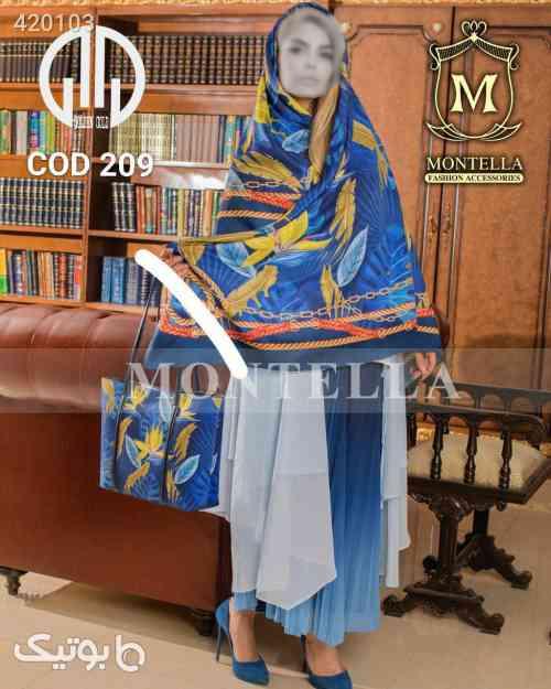 ست کیف و روسری آبی 98 2020