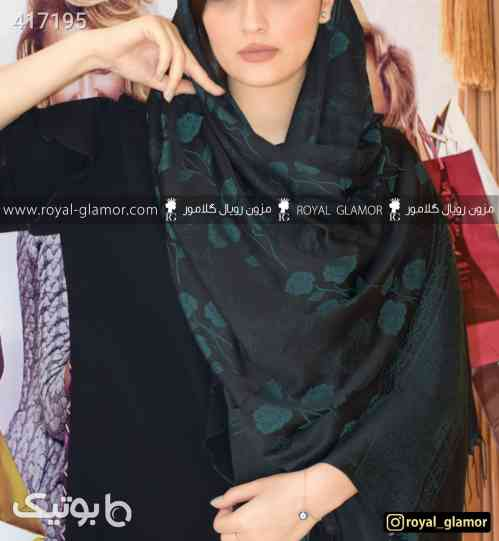 شال زنانه مشکی بلند شال و روسری شیک مشکی 98 2020