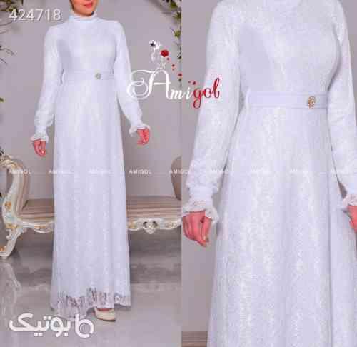 پیراهن مجلسی بسیار شیک و زیبا پرفروش سفید 99 2020