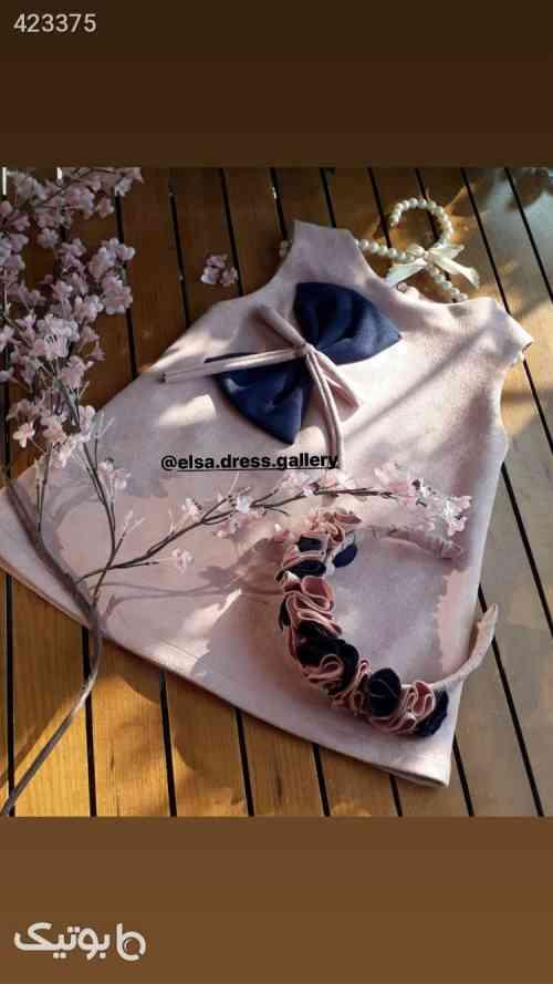 پیراهن پاپیونی همراه با تل - لباس کودک دخترانه