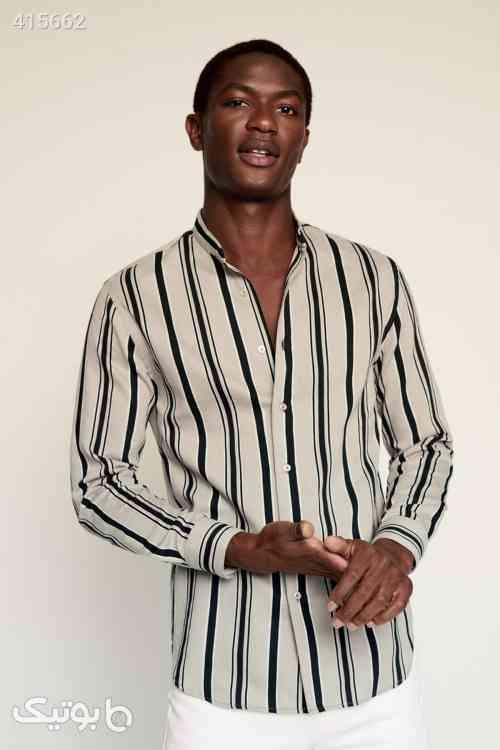 پیراهن برش دار یقه برند Mango کد 1583745423 طوسی 98 2020