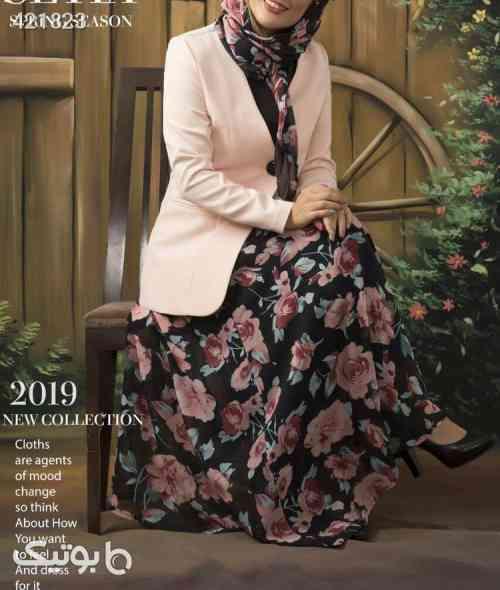 ست دامن و روسری و کت جدید مدل سیتا سبز 99 2020