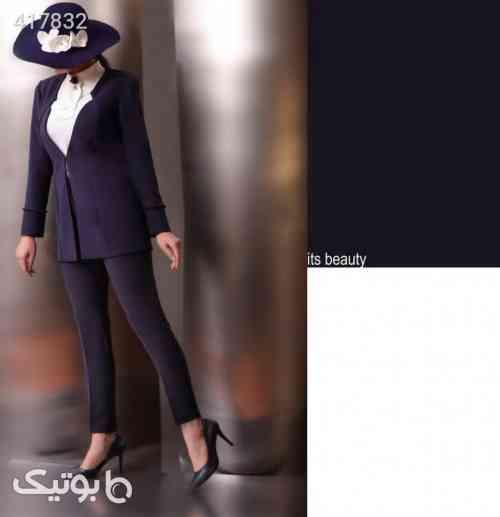 کت شلوار و تاپ زنانه برند سورمه ای 98 2020
