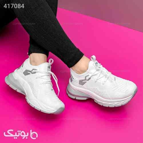 کفش زنانه Nike مدل  12884  نقره ای 98 2020
