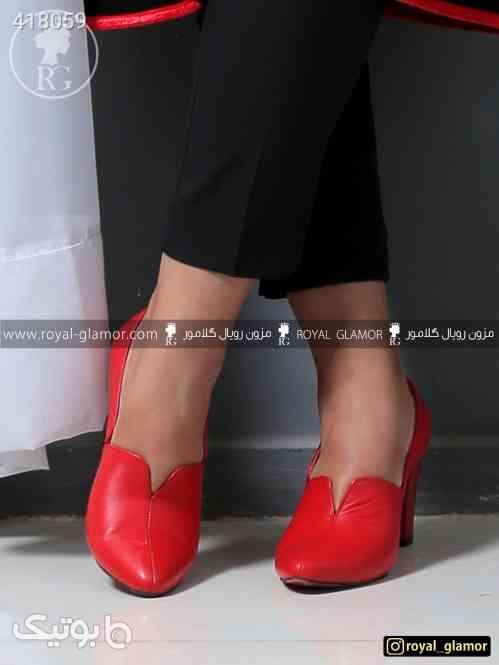 کفش چرم زنانه و دخترانه شیک مجلسی قرمز 98 2020