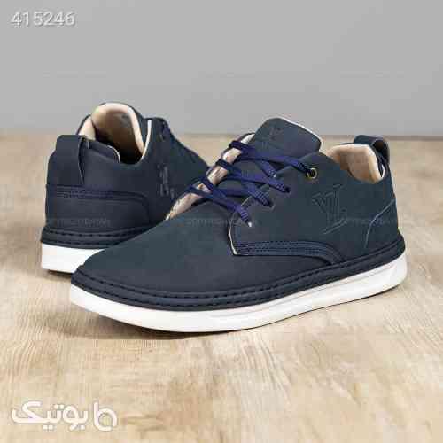 کفش مردانه Louis Vuitton مدل 12903 سورمه ای 98 2020