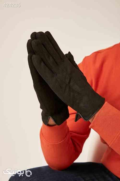 دستکش مشکی جیر مردانه برند Axesoire کد 1585375839 مشکی 99 2020