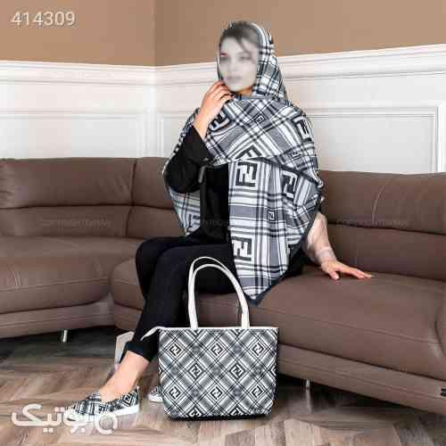 ست کیف و کفش و روسری فندی مشکی 98 2020