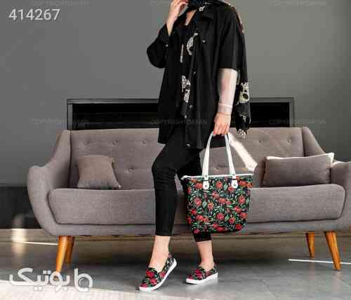 ست  کیف و کفش زنانه Selin مشکی 98 2020