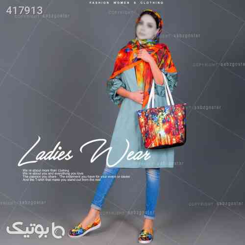 پکیج کیف وکفش وروسری دخترانه مدل Chanel قرمز 98 2020