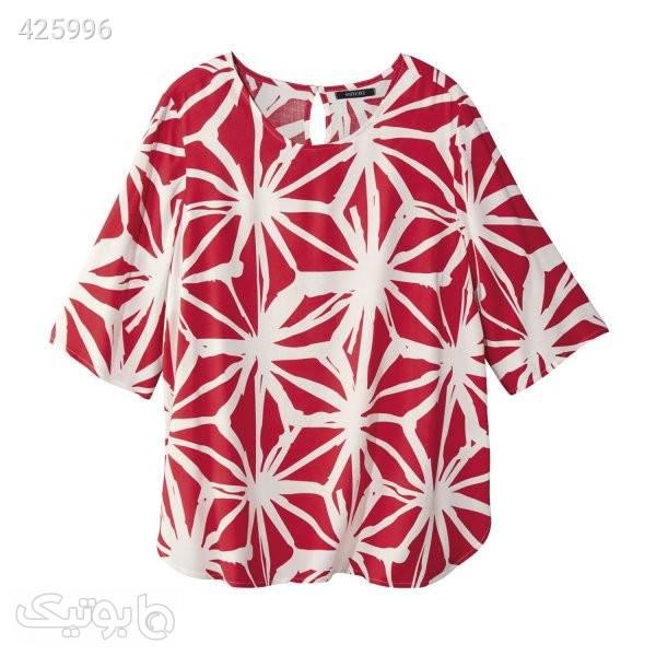 بلوز مجلسی قرمز تی شرت زنانه
