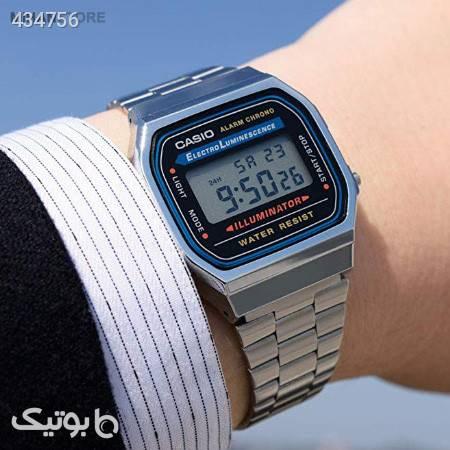 ساعت مچی دیجیتالی کاسیو مدل A159  نقره ای ساعت