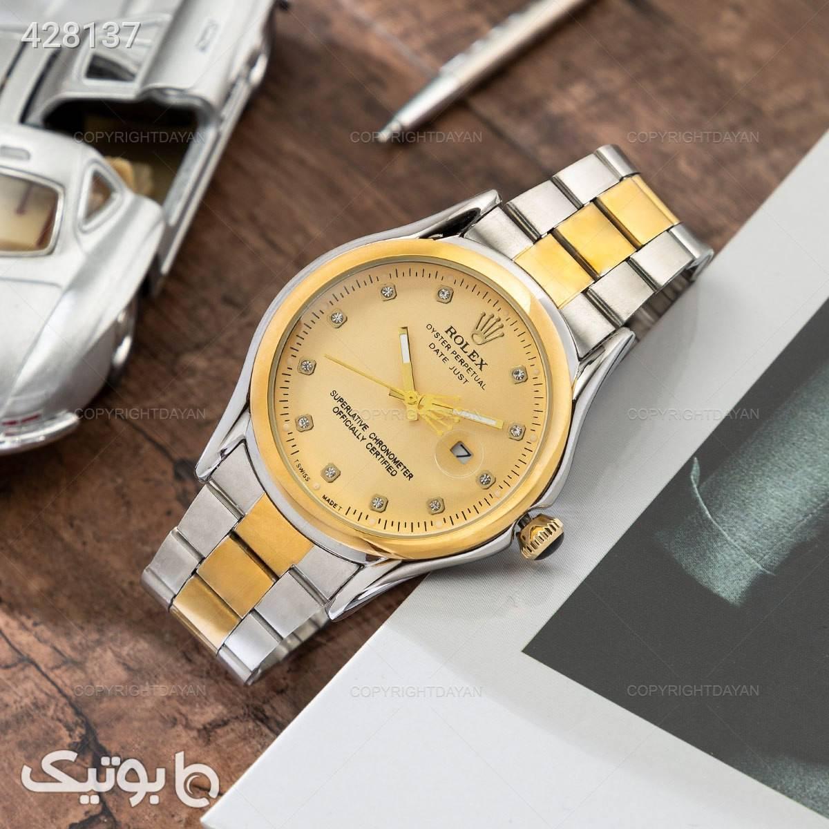 ساعت مچی Rolex مدل 12796  نقره ای ساعت