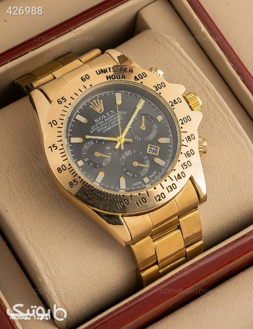 ساعت مچی مردانه Rolex مدل 12831  زرد ساعت