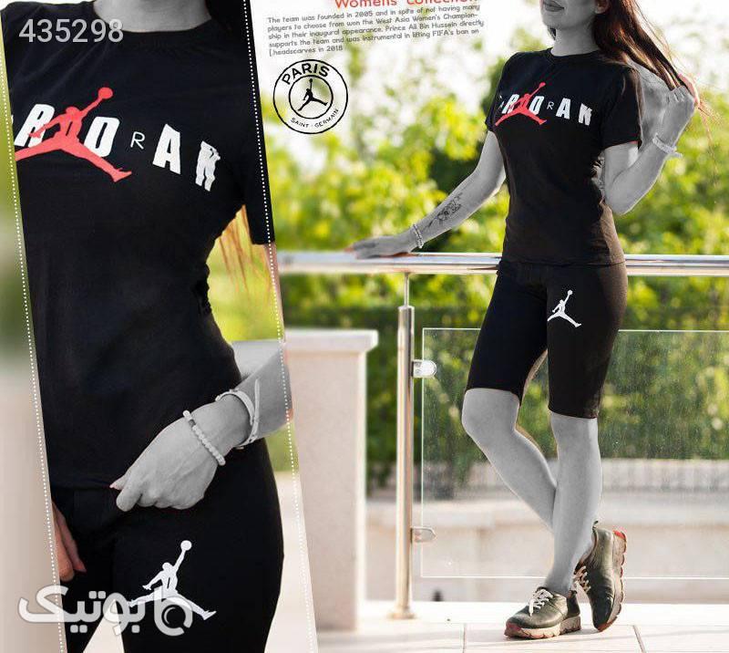 ست تیشرت و شلوارک زنانه Jordan مشکی ست ورزشی زنانه
