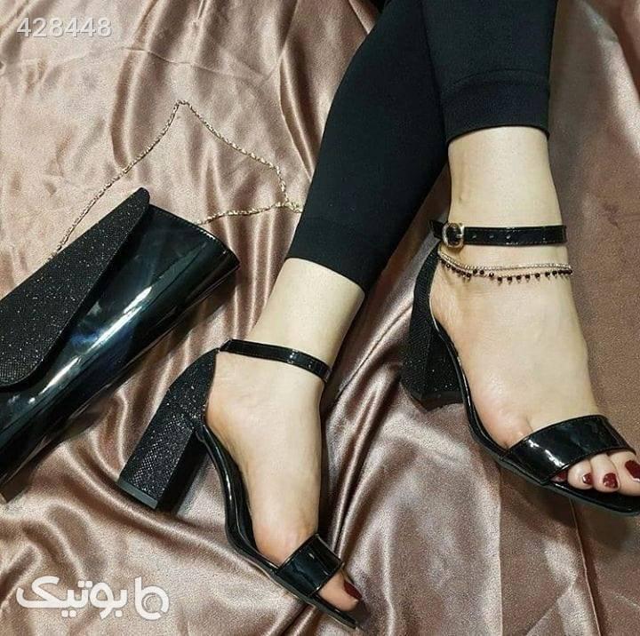 کفش آفرکفش مشکی ست کیف و کفش زنانه