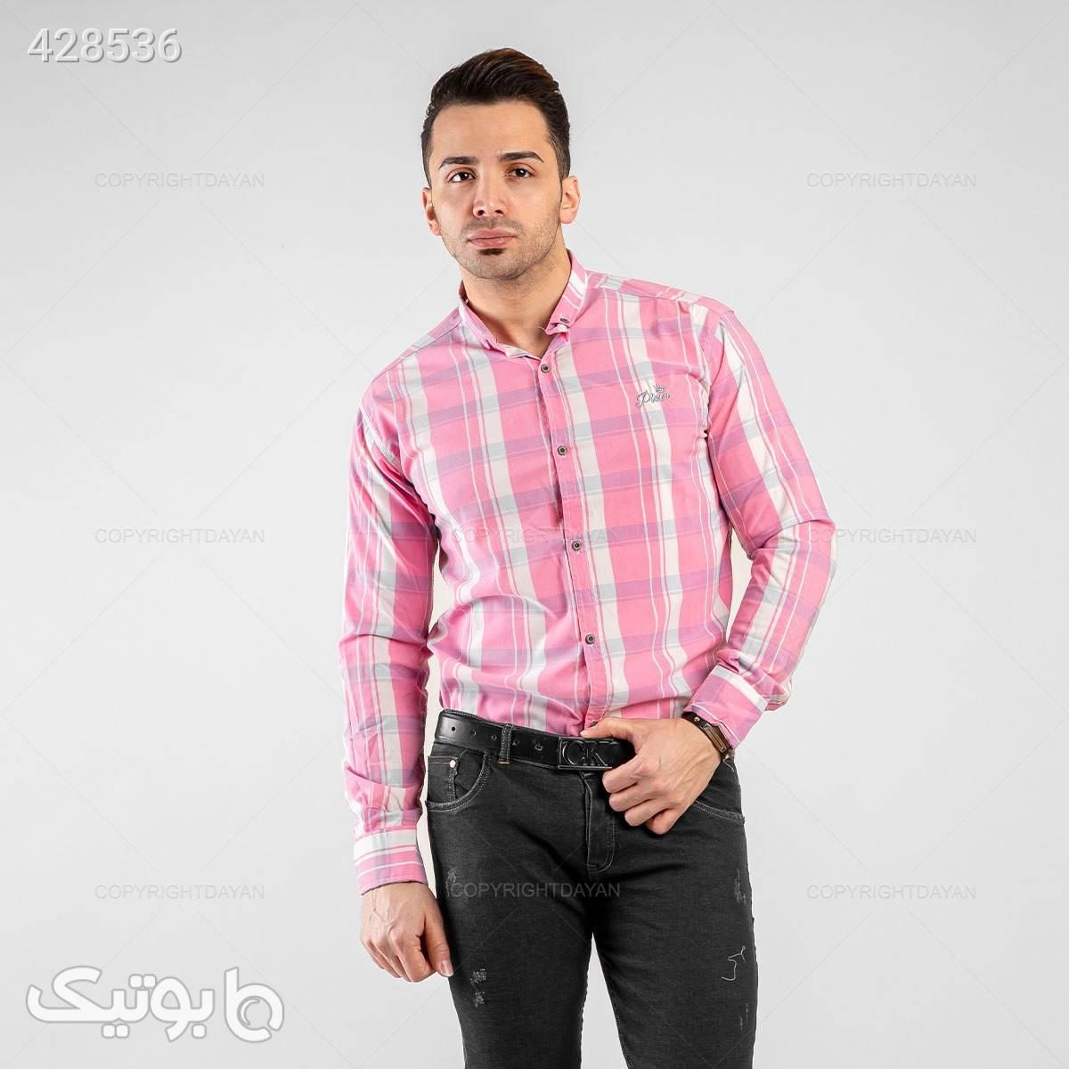 پیراهن مردانه برند مارلو صورتی پيراهن مردانه