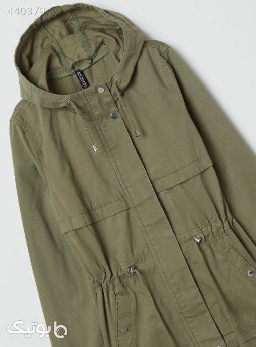 کت کتان  سبز کاپشن و بارانی زنانه