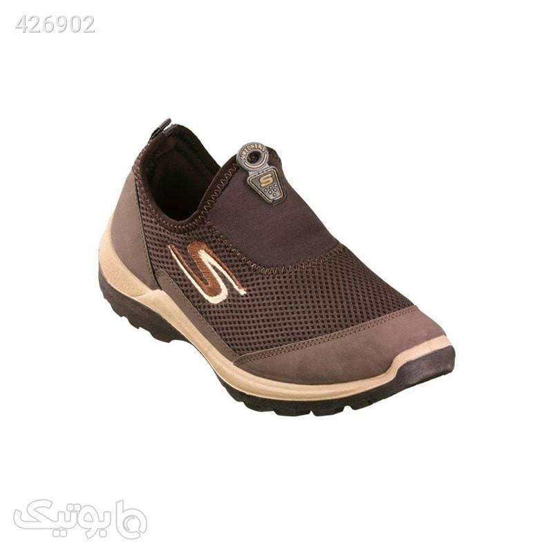 کفش پیاده روی اسکچرز شهپر قهوهای  قهوه ای كتانی مردانه