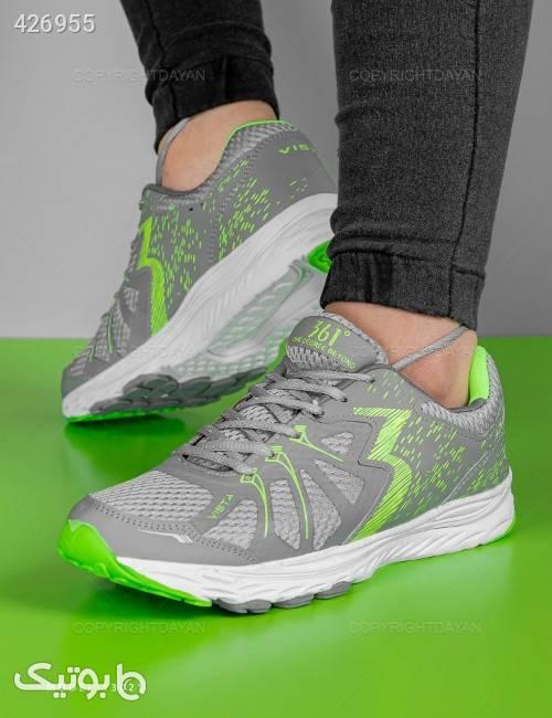 کفش مردانه 361 درجه مدل 13021  سبز كتانی مردانه
