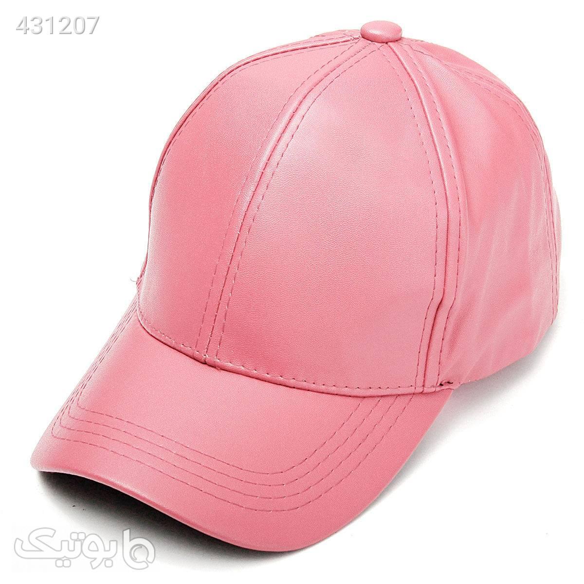 کلاه کپ چرم صورتی صورتی کلاه بافت و شال گردن و دستکش