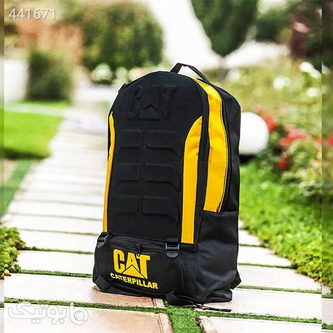 کوله پشتی CAT  زرد کوله پشتی