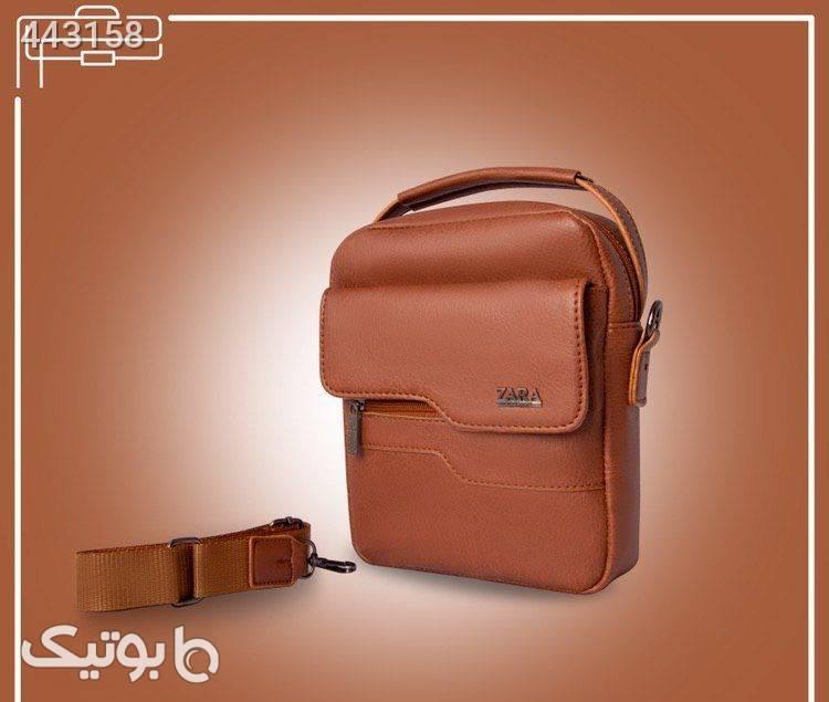 کیف دوشی دستی چرم مشکی كيف مردانه