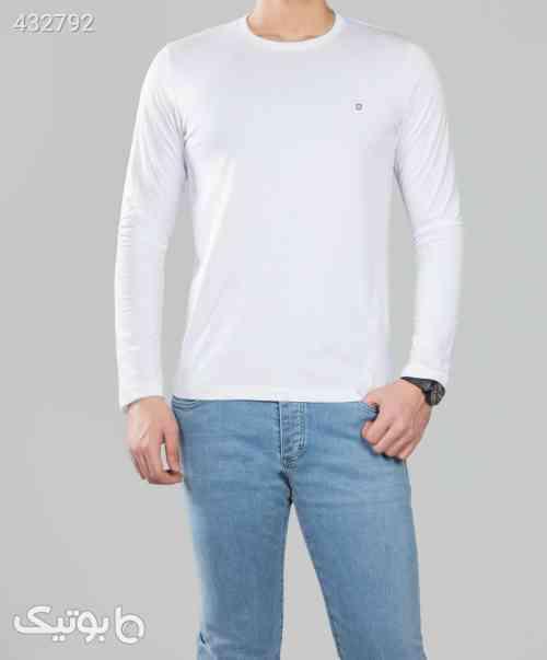 بلوز مردانه آستین بلند ساده - سفید سفید 99 2020