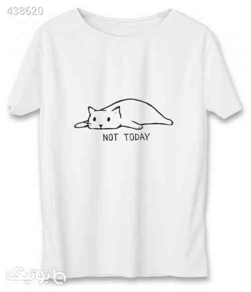تی شرت زنانه به رسم طرح امروز نه کد 586 سفید 99 2020