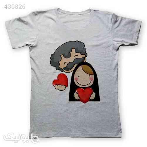 تی شرت زنانه به رسم طرح زوج کد 477 طوسی 99 2020