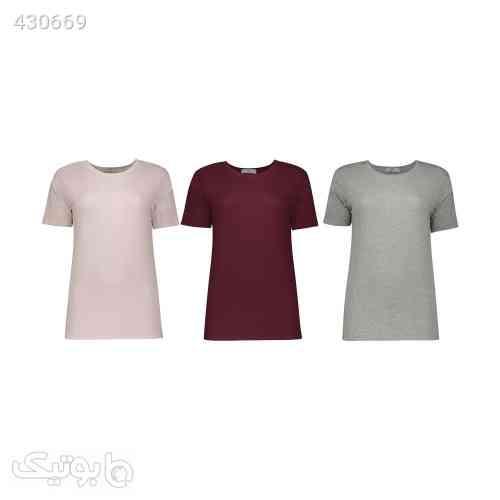 تی شرت زنانه مون مدل 1631147ML بسته 3 عددی طوسی 99 2020