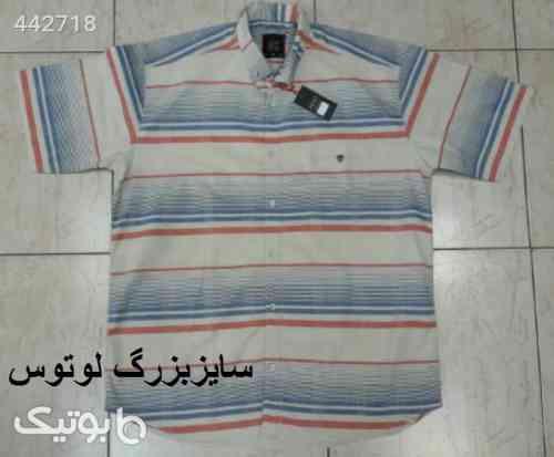 پیراهن اسپرت سایز بزرگ استین کوتاه کرم 99 2020