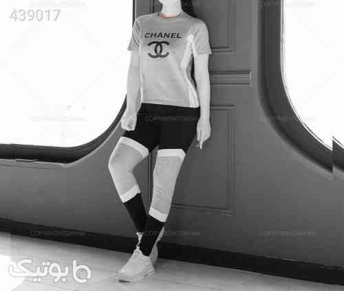 تیشرت و شلوار زنانه چنل نقره ای 99 2020