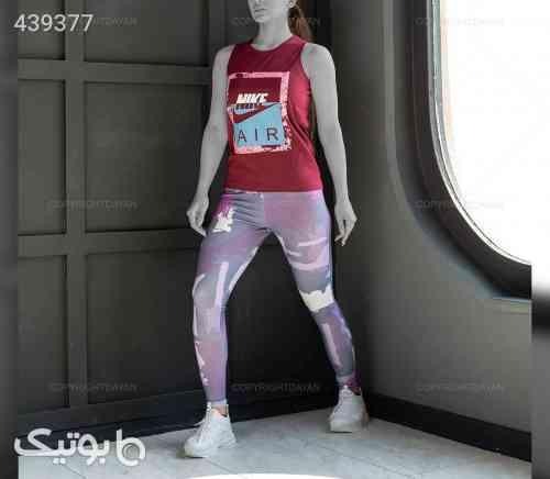 ست تاپ و شلوار  زنانه Nike مدل 12749   زرشکی 99 2020