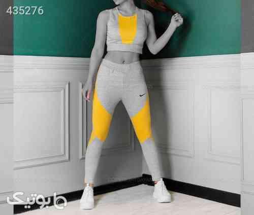 نیم تنه و شلوار زنانه زرد 99 2020