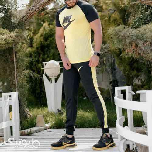 ست تیشرت وشلوار مردانه Nike مدل Adash زرد 99 2020